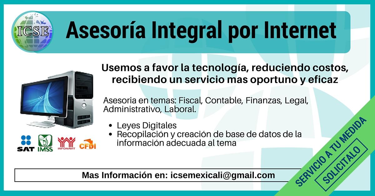 Asesoría Integral por Internet Fiscal Contable Finanzas Legal