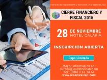 Cierre financiero y fiscal 2015