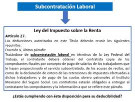 Ley del Impuesto sobre la renta en la Subcontratación laboral